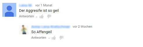 """Der Aggresife (sic) ist so geil"""